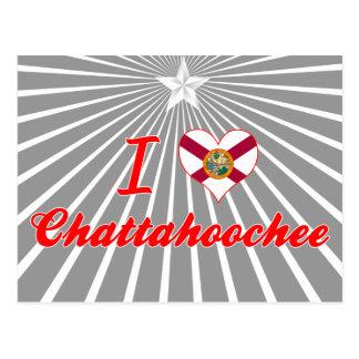Amo Chattahoochee, la Florida Tarjeta Postal