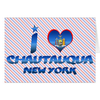 Amo Chautauqua, Nueva York Tarjeta