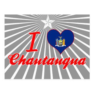 Amo Chautauqua, Nueva York Tarjeta Postal