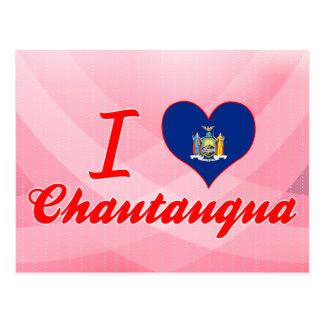 Amo Chautauqua, Nueva York Tarjetas Postales