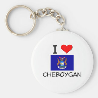 Amo Cheboygan Michigan Llavero Redondo Tipo Pin