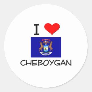Amo Cheboygan Michigan Pegatina Redonda