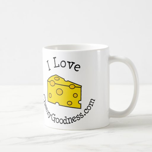Amo CheezyGoodness.com Taza