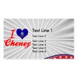 Amo Cheney, Kansas Plantillas De Tarjetas Personales