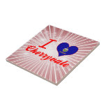 Amo Cherryvale, Kansas Azulejo Cuadrado Pequeño