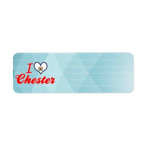 Amo Chester, Virginia Occidental Etiqueta De Remite