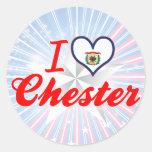 Amo Chester, Virginia Occidental Etiqueta Redonda
