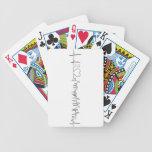 Amo Chicago en un estilo extraordinario del ecg Baraja Cartas De Poker
