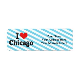 Amo Chicago Etiquetas De Remite