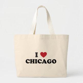 Amo Chicago Illinois Bolsa De Mano