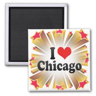 Amo Chicago Imán De Nevera