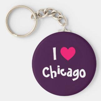 Amo Chicago Llaveros Personalizados
