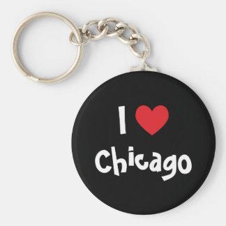 Amo Chicago Llaveros