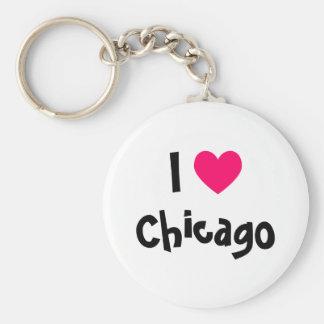 Amo Chicago Llavero Personalizado