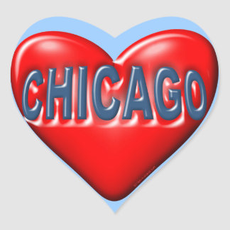 Amo Chicago Pegatina En Forma De Corazón