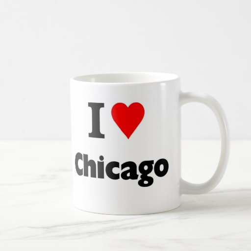 Amo Chicago Taza De Café