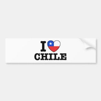 Amo Chile Pegatina De Parachoque