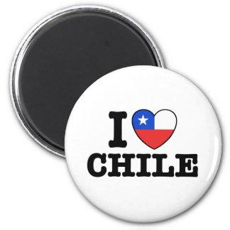Amo Chile Imán Redondo 5 Cm
