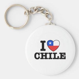Amo Chile Llavero Redondo Tipo Pin