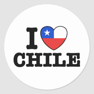 Amo Chile Pegatina Redonda