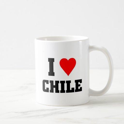 Amo Chile Taza Básica Blanca