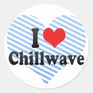 Amo Chillwave Pegatinas Redondas