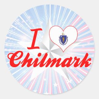 Amo Chilmark, Massachusetts Etiqueta Redonda