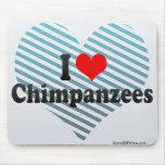 Amo chimpancés alfombrilla de raton