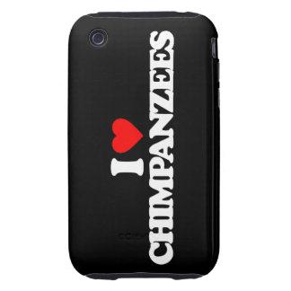 AMO CHIMPANCÉS iPhone 3 TOUGH CÁRCASAS