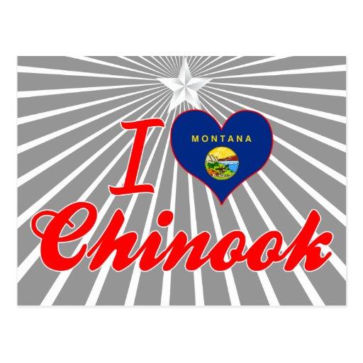 Amo Chinook, Montana Postales