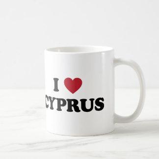 Amo Chipre Taza Básica Blanca