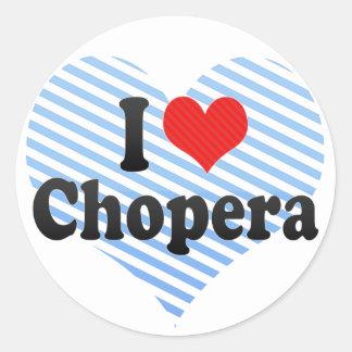 Amo Chopera Pegatina Redonda