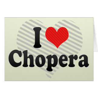 Amo Chopera Tarjeta De Felicitación
