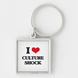 Amo choque de cultura llaveros personalizados