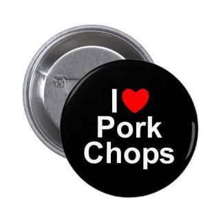 Amo chuletas de cerdo (del corazón) pins