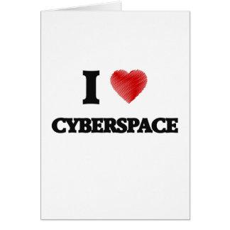 Amo ciberespacio tarjeta de felicitación