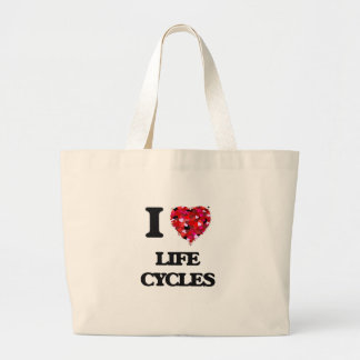 Amo ciclos vitales bolsa tela grande