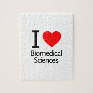 Amo ciencia biomédica rompecabezas con fotos