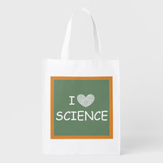 Amo ciencia bolsa reutilizable