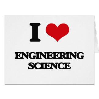 Amo ciencia de ingeniería tarjeta de felicitación grande
