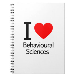 Amo ciencia del comportamiento cuaderno