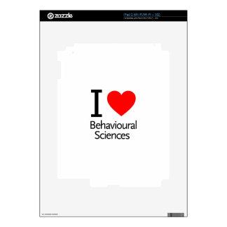 Amo ciencia del comportamiento skin para el iPad 2