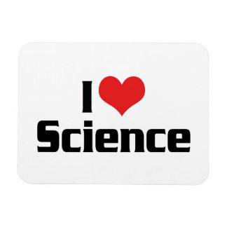 Amo ciencia del corazón iman de vinilo