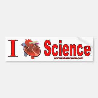 Amo ciencia etiqueta de parachoque
