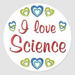 Amo ciencia etiqueta redonda