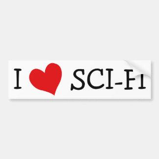 Amo ciencia ficción etiqueta de parachoque