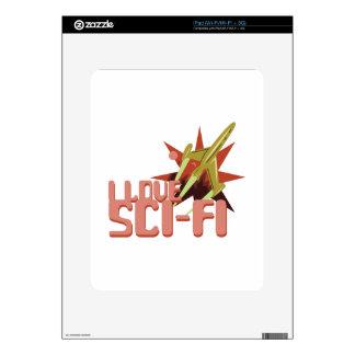 Amo ciencia ficción iPad calcomanía