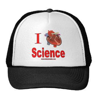 Amo ciencia gorros
