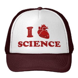 amo ciencia la anatomía del corazón de la ciencia gorros