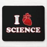 amo ciencia/la anatomía del corazón de la ciencia/ tapete de ratones